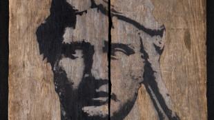 Autoritratto come Mitridate Anno: 2014/2015 cm 132 x120 Tecnica mista su legno. Ph: FILIPPO LORENZETTI